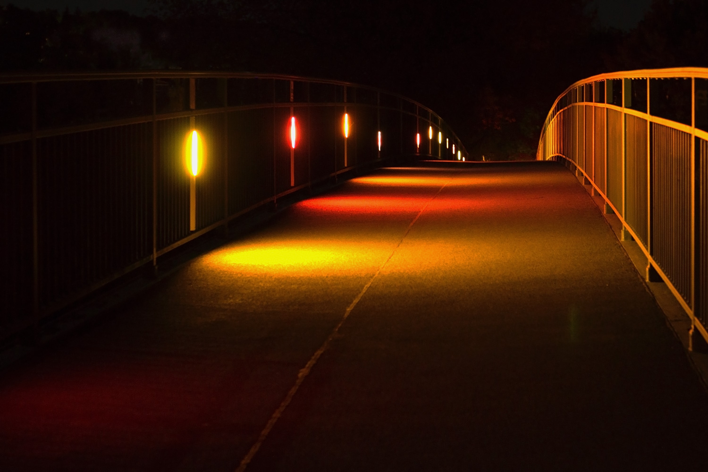 Kneippsteg bei Nacht