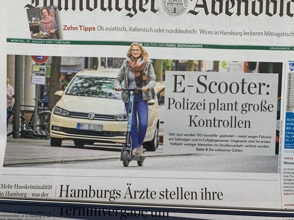 Über E-Scooter